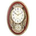 【送料無料】 リズム時計 電波からくり時計 「スモールワールクイーンダムDX」 4MN484RH23 【メーカー直送・代金引換不可・時間指定・返品不可】