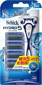 シック Schick Schick(シック) ハイドロ5 コンボパック(替刃5コ付)〔ひげそり〕[カミソリ 替え刃 hydro5 髭剃り ヒゲソリ]