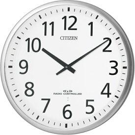 シチズン CITIZEN 掛け時計 銀色ヘアライン 4MY821-019 [電波自動受信機能有]