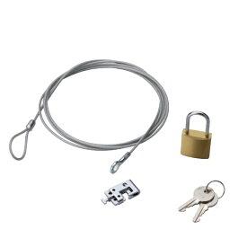 エレコム ELECOM ノートパソコン&マウス用セキュリティワイヤーロック(1.7m) ESL-3R[ESL3R]