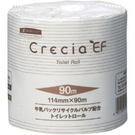 日本製紙クレシア crecia EFトイレットロール 90mシングル 10101 (1ケース80個)