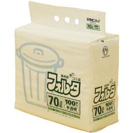 日本サニパック SANIPAK F-7H環優包装フォルタ70L白半透明 F7HHCL (1袋100枚)