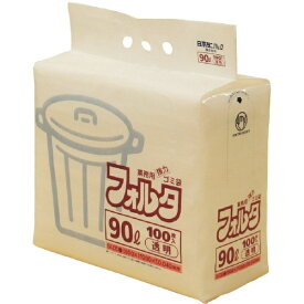 日本サニパック SANIPAK F-9C環優包装90L透明 F9CCL (1袋100枚)