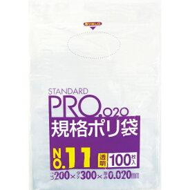 日本サニパック SANIPAK LT11スタンダートポリ袋11号(0.02)透明100枚 LT11