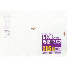 日本サニパック SANIPAK LT15スタンダートポリ袋15号(0.02)透明100枚 LT15