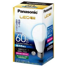 パナソニック Panasonic LDA7D-G/K60E/S/W LED電球 ホワイト [E26 /昼光色 /1個 /60W相当 /一般電球形 /広配光タイプ][LDA7DGK60ESW]
