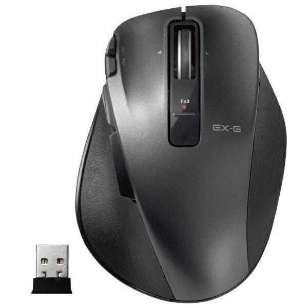 エレコム ワイヤレスレーザーマウス[USB 2.4GHz・Mac/Win] M-XGM20DLシリーズ Mサイズ(8ボタン・ブラック)  M-XGM20DLBK