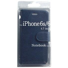 オズマ OSMA iPhone 6s/6用 手帳型 Notebook type ノートブック型ケース ネイビー BJSL-IP6NV[BJSLIP6NV]