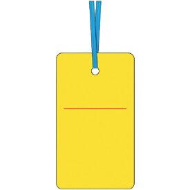 つくし工房 TSUKUSHI KOBO ケーブルタグ 荷札式 黄無地 両面印刷 ビニタイ付き 30F