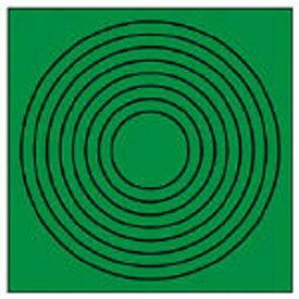 ユニット UNIT ゲージマーカー円形緑 PPステッカー 10枚組 44686