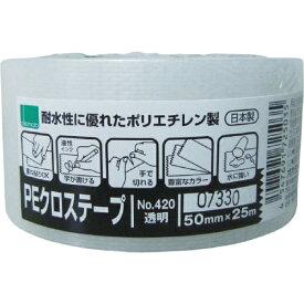オカモト okamoto NO420 PEクロステープ包装用 透明 50ミリ 420Q