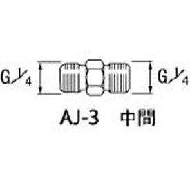 アネスト岩田 ANEST IWATA エアー用継手 中間 G1/4 AJ3