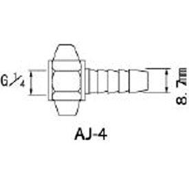 アネスト岩田 ANEST IWATA エアー用継手 ホースG1/4×8.7mm竹の子 AJ4