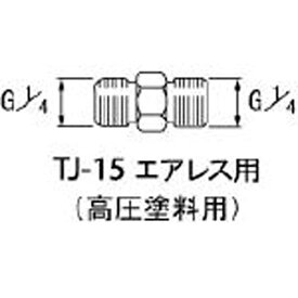アネスト岩田 ANEST IWATA 高圧塗料用継手 G1/4×G1/4 中間 TJ15