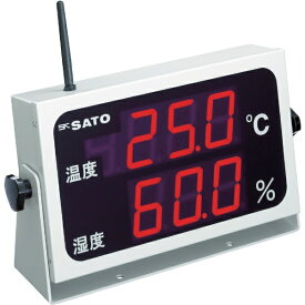 佐藤計量器製作所 skSATO コードレス温湿度表示器(8102-00) SKM350RTRH