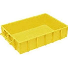 DICプラスチック ディーアイシープラスチック A型コンテナ A-1 ボックス型 外寸:W460×D280×H100 黄 A1