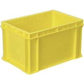 DICプラスチック ディーアイシープラスチック F型コンテナF-21 外寸:W424×D291×H244.5 黄 F21