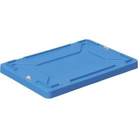 DICプラスチック ディーアイシープラスチック F型コンテナ蓋(ロック付) 外寸:W423×D288×H36.5 青 FFR