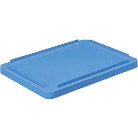 DICプラスチック ディーアイシープラスチック DA型コンテナDAー42用蓋 外寸:W510×D370×H30.5 青 DA42F