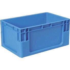 DICプラスチック ディーアイシープラスチック C型コンテナ C-1 ボックス型 外寸:W589×D389×H280 青 C1
