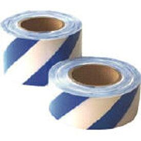 日東 Nitto 危険標示テープ シマモヨウ 青/白 60mm×50m DM7