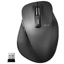 エレコム ELECOM M-XGL10DBBK マウス M-XGL10DBシリーズ Lサイズ ブラック [BlueLED /5ボタン /USB /無線(ワイヤレス)][MXGL10DBBK]