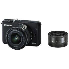 キヤノン CANON EOS M10 ミラーレス一眼カメラ ブラック [ズームレンズ+単焦点レンズ][EOSM10BKWLK]