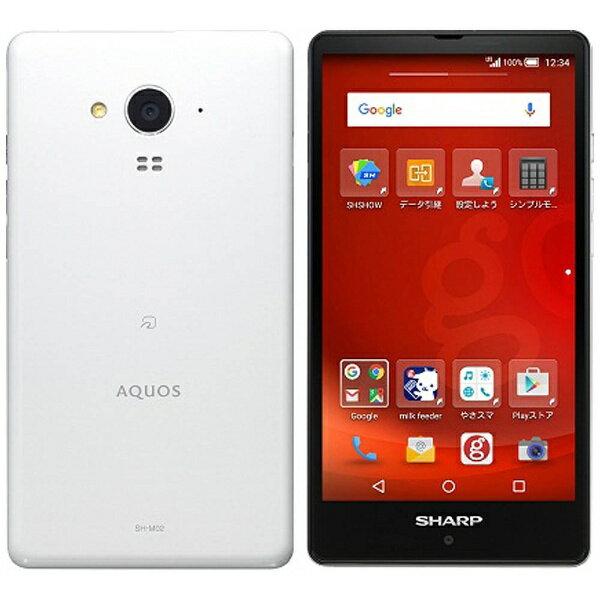 【送料無料】 シャープ 【値下げしました】g04(SH-M02) gooのスマホ・ホワイト「AQUOS SH-M02-WGOO」 Android 5.0・5型・メモリ/ストレージ:2GB/16GB nanoSIMx1 SIMフリースマートフォン[SHM02W]