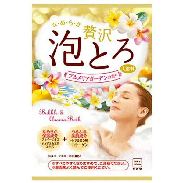 牛乳石鹸 【お湯物語】贅沢泡とろ入浴料プルメリアガーデン〔入浴剤〕