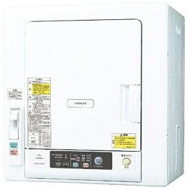 日立 HITACHI DE-N60WV-W 衣類乾燥機 ピュアホワイト [乾燥容量6.0kg][6キロ DEN60WV]
