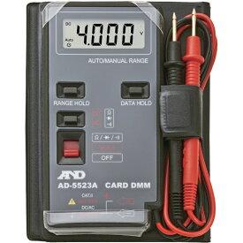 A&D エー・アンド・デイ デジタルマルチメーターカードタイプ最大1999カウント AD5523A