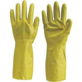トラスコ中山 天然ゴム手袋 中厚手タイプ グリ-ン Lサイズ DPM5495GL