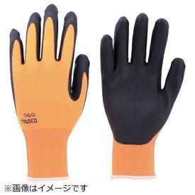 トラスコ中山 液晶対応すべり止め付ニトリル手袋 オレンジ S TNGOS