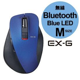 エレコム ELECOM M-XGM10BBBU マウス M-XGM10BBシリーズ Mサイズ ブルー [BlueLED /5ボタン /Bluetooth /無線(ワイヤレス)][MXGM10BBBU]