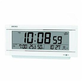 セイコー SEIKO 置き時計 【スペースリンク(衛星電波クロック)】 白パール GP501W [電波自動受信機能有]