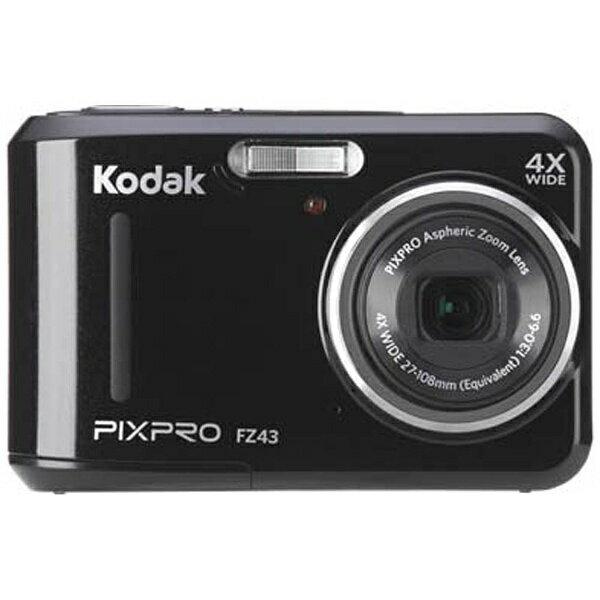 【送料無料】 コダック コンパクトデジタルカメラKodak PIXPRO FZ43BK (ブラック)