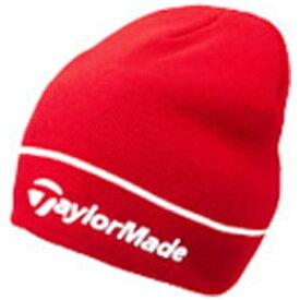 テーラーメイドゴルフ Taylor Made Golf ユニセックス ゴルフキャップ ビーニー(フリーサイズ:57〜59cm/レッド) CBZ62