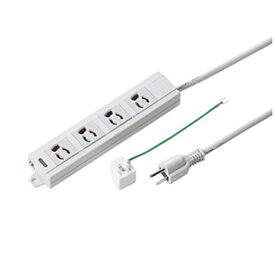 サンワサプライ SANWA SUPPLY 電源タップ(抜け止めタイプ) TAP-MG341N2-3 [3.0m /4個口 /スイッチ無][TAPMG341N23]