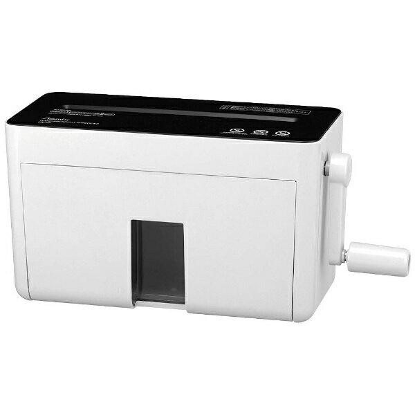 アスカ ASKA HM02 ハンドシュレッダー ホワイト [マイクロカット /A4サイズ][HM02W]
