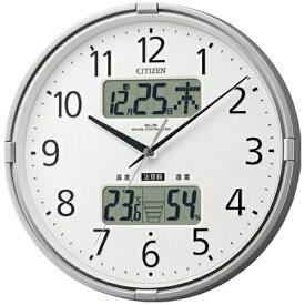 リズム時計 RHYTHM 掛け時計 【インフォームナビF】 シルバーメタリック 4FY618-019 [電波自動受信機能有]