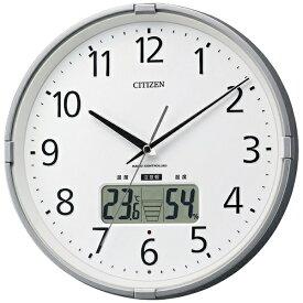 リズム時計 RHYTHM 掛け時計 【インフォームナビS】 シルバーメタリック 4FY621-019 [電波自動受信機能有]