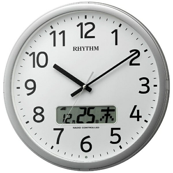 リズム時計 RHYTHM 電波掛け時計 「プログラムカレンダー01SR」 4FNA01SR19[4FNA01SR19]