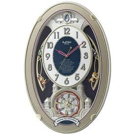 リズム時計 RHYTHM 掛け時計 【スモールワールドウィッシュ】 4MN544RH18 [電波自動受信機能有]
