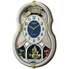 リズム時計 RHYTHM 掛け時計 【スモールワールドカラーズ】 4MN543RH18 [電波自動受信機能有][4MN543RH18]