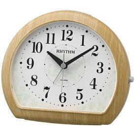 リズム時計 RHYTHM 目覚まし時計 マイキーR662 薄茶木目仕上(白) 8RE662SR07 [アナログ]