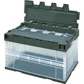 積水化学工業 SEKISUI 積水 ロック付フタ一体型オリコン OC−50L 透明OD 5LRFCOD