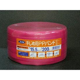 ユタカメイク YUTAKA ユタカ PPバンド 15.5mm×200m レッド L−204