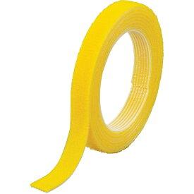 トラスコ中山 TRUSCO マジックバンド結束テープ 両面 幅40mmX長さ5m 黄 MKT−40V−Y