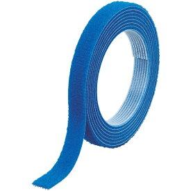 トラスコ中山 TRUSCO マジックバンド結束テープ 両面 幅20mmX長さ10m 青 MKT−20100−B