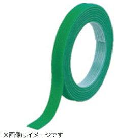 トラスコ中山 TRUSCO マジックバンド結束テープ 両面 幅20mmX長さ10m 緑 MKT−20100−GN